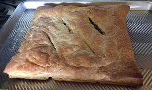 Finished Kale and Puff Pastry.